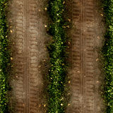 Tire tracks. View of truck tire tracks on a small country path Stock Image