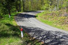 Country road in the Vosges Mountains Royalty Free Stock Photo