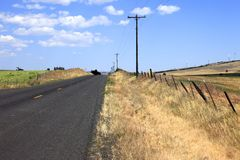 Country road, Washington state. Royalty Free Stock Images