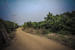 Country road way wallpaper Stock Images