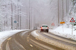 Country road in winter Royalty Free Stock Photography