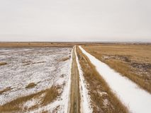 Country road in winter time. Royalty Free Stock Photos
