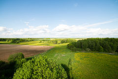 Country roads in perspective from above Stock Images