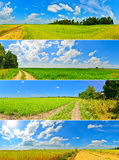 Country roads Royalty Free Stock Images