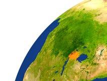 Country of Rwanda satellite view Royalty Free Stock Photos