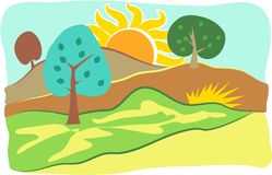 Country Scene royalty free illustration