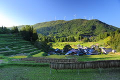 Country scenery. It is a country scenery of Japan Stock Photography