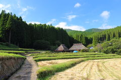 Country scenery. It is a country scenery of Japan Stock Photos