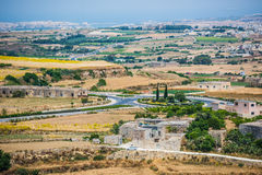 Country scenery of Mdina Stock Photography