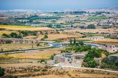 Country scenery of Mdina Stock Photography