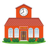 vector country school building Royalty Free Stock Images