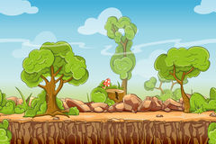 Country seamless landscape in vector cartoon style Stock Image
