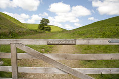 Country Shut Gate Sign Royalty Free Stock Image