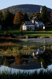Country side. Houses in small town, New York state royalty free stock photo