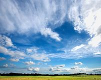 Country side - blue sky Stock Photography