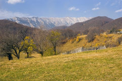 Country side in the fall. Landscape from Ciocanu village, Romania Stock Image