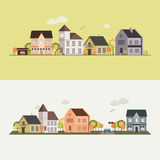 Country side, house, field. Vector illustration for your design, eps 10 Royalty Free Stock Photography
