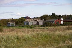 Country side houses in stavanger Royalty Free Stock Photography
