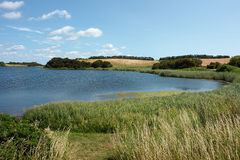 Country side lake Funen Denmark Stock Photography