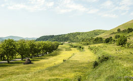 Country side landscape with hills Stock Photography