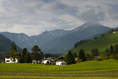 Country side landscape, Italy. Country side panoramic landscape in the Dolomites north Italy Royalty Free Stock Photography