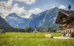 Country side living in area Achensee Royalty Free Stock Images