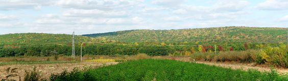 Country side panorama in autumn Royalty Free Stock Images