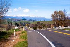 Country side road in New Zealand Stock Photo