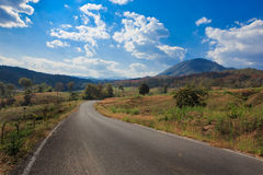 Country side road in North of Thailand. Raod to country side in North of Thailand Stock Photo