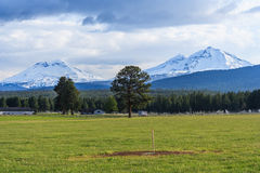 Country side view and farm land at Oregon USA Stock Photos