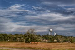 Country side. Country view from the road in Texas Royalty Free Stock Image