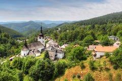 Country in Slovakia - Village Spania Dolina royalty free stock image