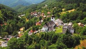 Country in Slovakia - Village Spania Dolina Royalty Free Stock Photos