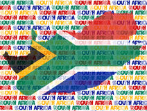 Country south africa text. South africa country with the flag and text background. soccer world cup Stock Image