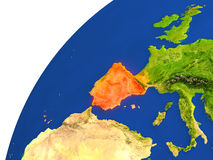 Country of Spain satellite view Royalty Free Stock Images