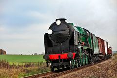 Country steam train Royalty Free Stock Images