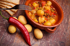 Country Stew With Vegetables And Pork Chops stock photos