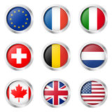 Country - Sticker: Europe, France, Italy, ... Stock Photography