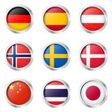 Country - Sticker: Germany, Spain, Austria, ... Stock Photography