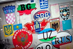 Country stickers Stock Image