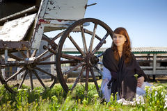 Country stile model portrait Royalty Free Stock Images