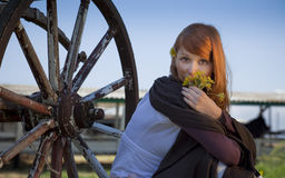 Country stile model portrait Stock Photo