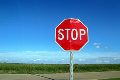 Country Stop Sign royalty free stock image
