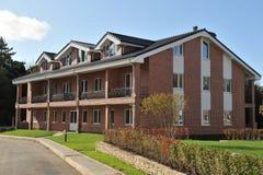 Country-storey residential block  brick houses Stock Photos