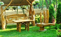 Amazing country design wood furniture  Stock Photos