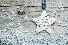 Country style Christmas star Stock Photos
