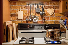 Country style kitchen Royalty Free Stock Images