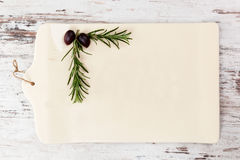 Country style kitchen board with copy space. Stock Photos