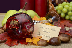 Country style rustic Thanksgiving table setting Royalty Free Stock Photo