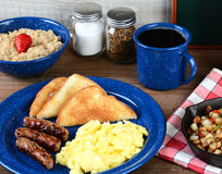 Free Country Style Scrambled Egg Breakfast Royalty Free Stock Photos - 40250298